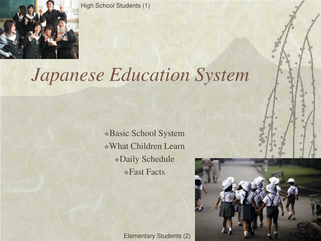 japanese education system l.