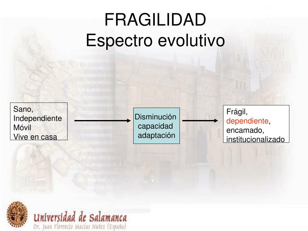 fragilidad espectro evolutivo l.