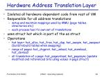 hardware address translation layer