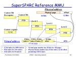 supersparc reference mmu