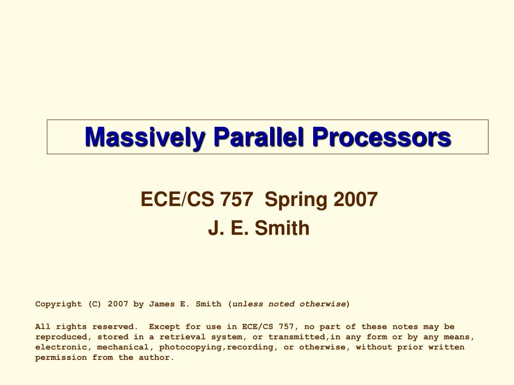 massively parallel processors l.