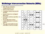 multistage interconnection networks mins