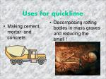 uses for quicklime