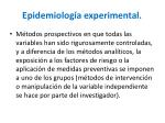 epidemiolog a experimental