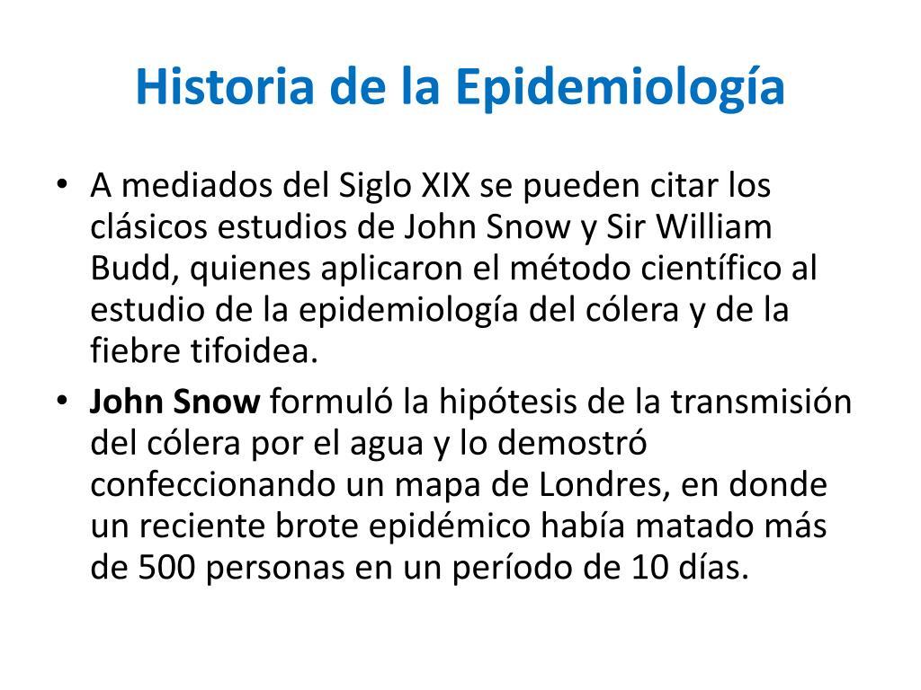 historia de la epidemiolog a l.