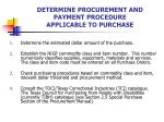 determine procurement and payment procedure applicable to purchase