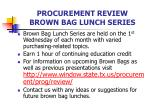 procurement review brown bag lunch series