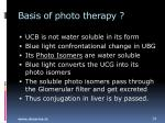 basis of photo therapy