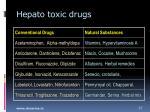 hepato toxic drugs