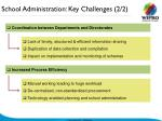 school administration key challenges 2 2