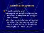 electron configurations12