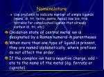 nomenclature29