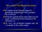 the crystal field model and colors41