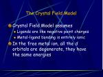 the crystal field model