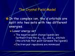 the crystal field model34