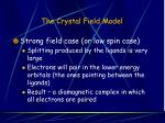 the crystal field model37