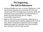 the beginning the call to adventure