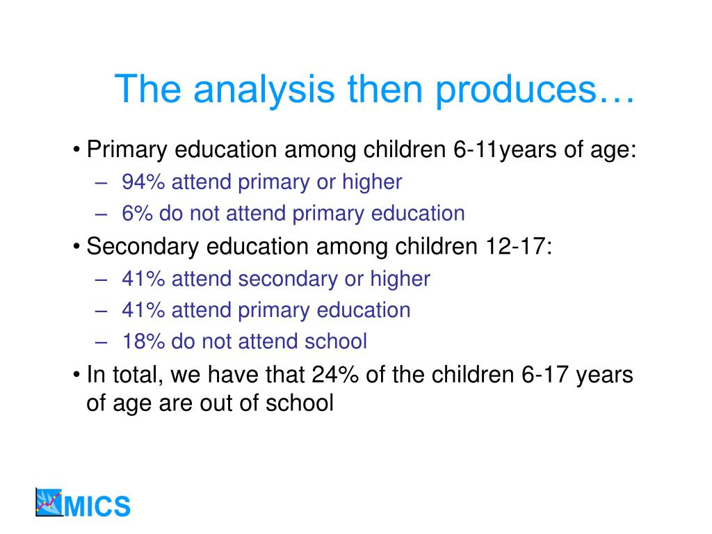 The analysis then produces…