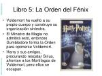 libro 5 la orden del f nix
