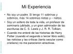 mi experiencia