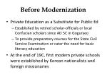 before modernization