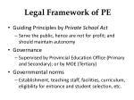 legal framework of pe