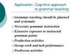 application cognitive approach to grammar teaching