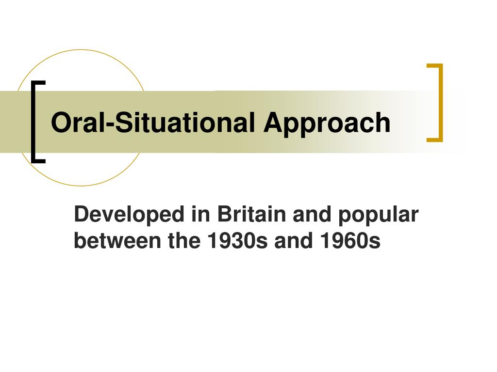 Oral-Situational Approach