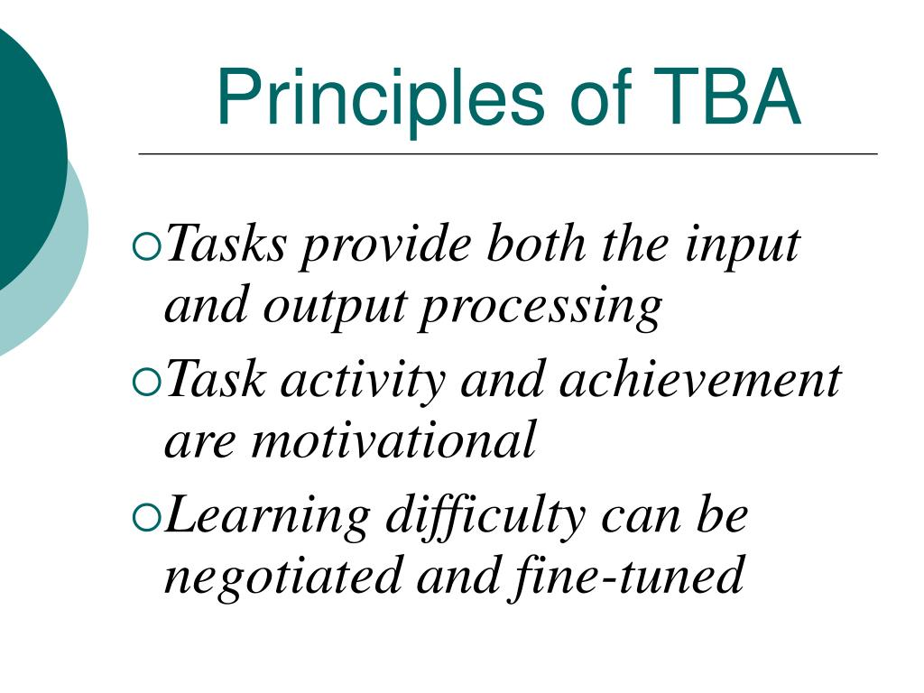 Principles of TBA