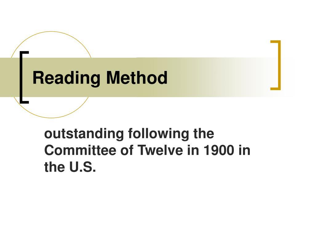 Reading Method