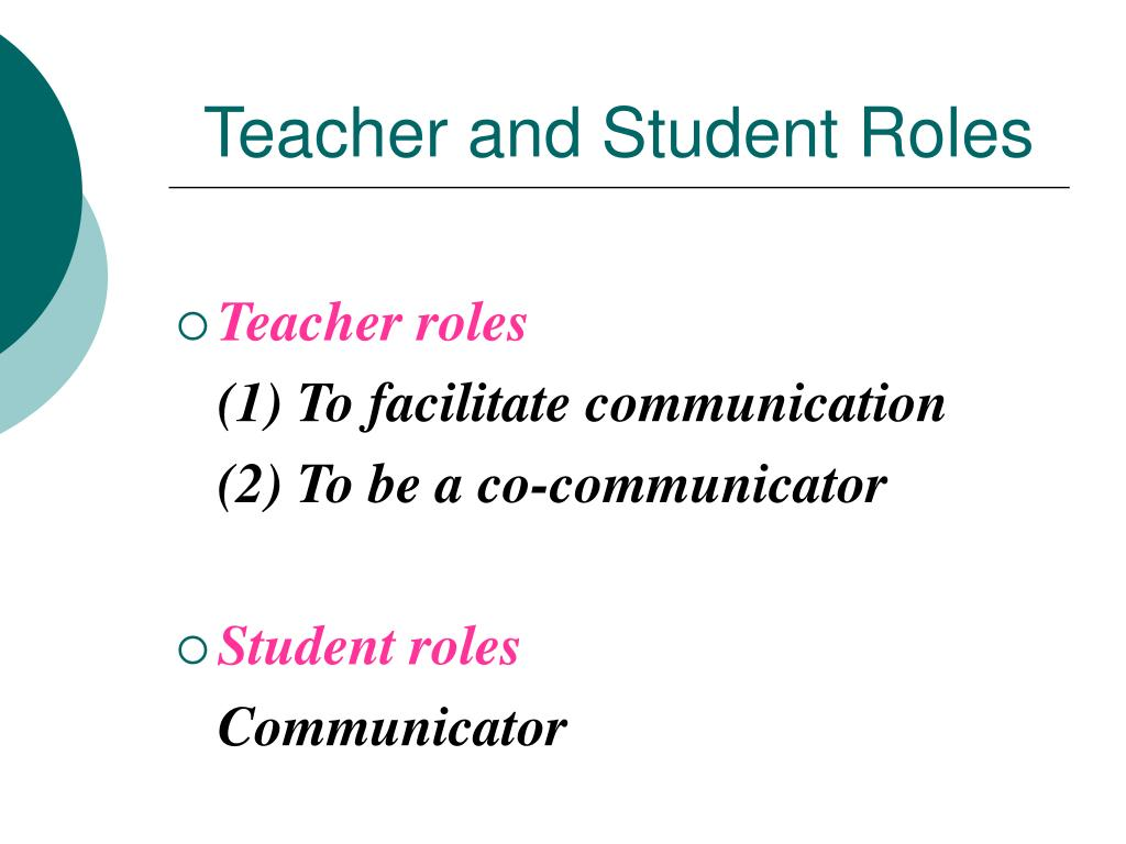 Teacher and Student Roles