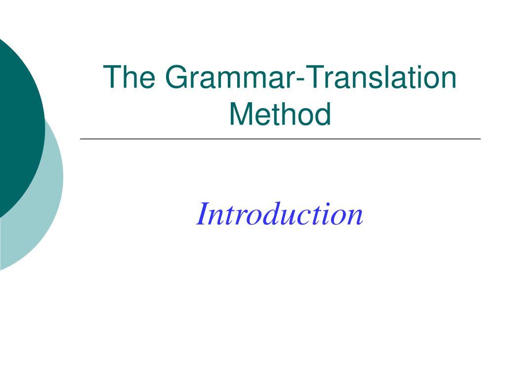 the grammar translation method l.