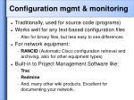configuration mgmt monitoring43