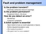 fault and problem management
