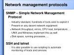 network management protocols