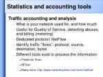 statistics and accounting tools