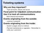 ticketing systems