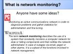 what is network monitoring