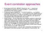event correlation approaches