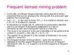 frequent itemset mining problem