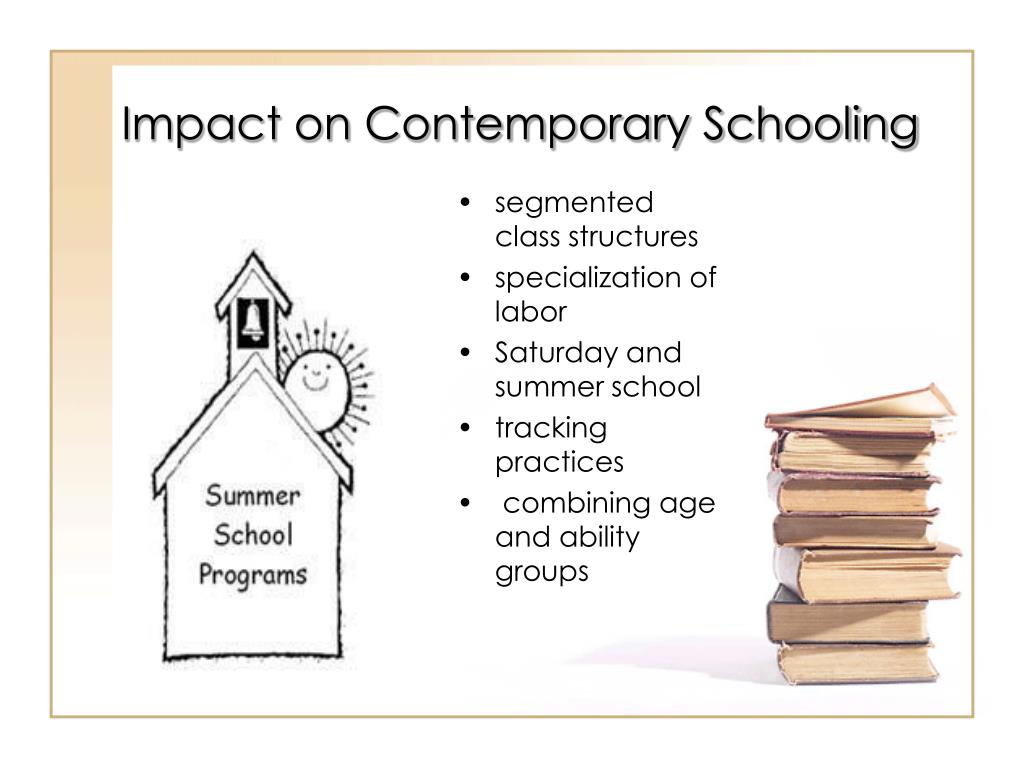 Impact on Contemporary Schooling