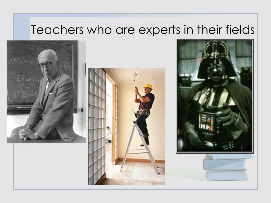 Teachers who are experts in their fields
