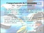 comportamento do consumidor ssl secure socket layer