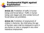 fundamental right against exploitation