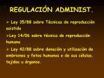 regulaci n administ