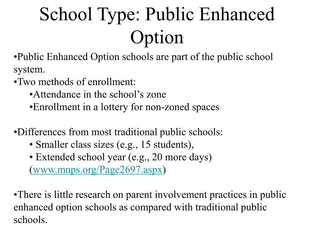 School Type: Public Enhanced Option