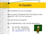 an equation16