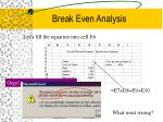 break even analysis15