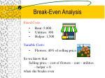 break even analysis7