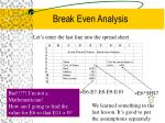 break even analysis8